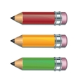 set coloured pencils vector image vector image