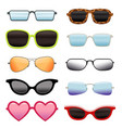 set of different sun glasses vector image vector image