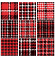Set of plaid seamless patterns vector image vector image
