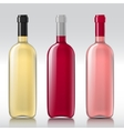 Set of realistic glass bottles vector image vector image