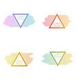 set triangular banners vector image