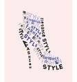shoe from words vector image vector image