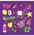 Stickers collections in pop art style vector image vector image