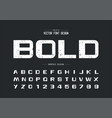 texture font and bold alphabet rough design vector image vector image