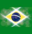 the national flag of brasil modern pattern vector image vector image