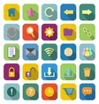 Tool bar color icons with long shadow vector image vector image