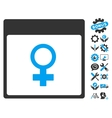 Venus Female Symbol Calendar Page Icon With vector image vector image