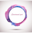 watercolor-ring-violet-pink vector image vector image