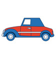 wedding car transport old fashion style vector image vector image