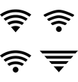 Wireless symbols vector image vector image