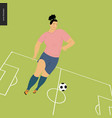 womens european football soccer player vector image