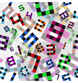 colored numbers pattern vector image