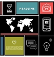 Set icons for business internet and communication vector image