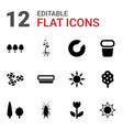 12 spring icons vector image vector image