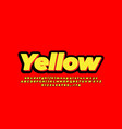3d bold yellow black text effect or font effect vector image vector image