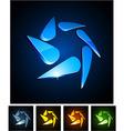 3d swirl emblems vector image vector image