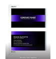 a black and violet colored business card vector image vector image