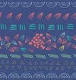 abstract aztec purple seamless print design vector image