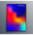 abstract poster design with colorful gradient vector image