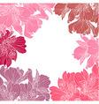 Alstroemeria flower frame vector image