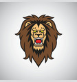 angry lion roar vector image vector image