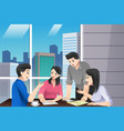 asian chinese business people teamwork meeting vector image vector image