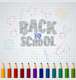 back to school doodles elements with pencil vector image vector image