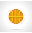 Basketball ball flat color design icon vector image