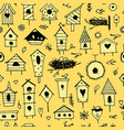 birdhouses seamless pattern for your design vector image