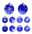 Blue Christmas balls vector image vector image