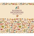 Business background doodles hand drawn color icons vector image