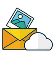 cloud computing send email picture vector image vector image
