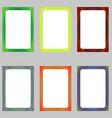 Colored abstract digital art brochure frame set vector image vector image