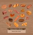 colorful sketch fresh bread set vector image vector image