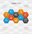 commerce icons set collection of outgoing vector image