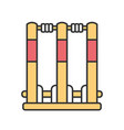 cricket stumps color icon wicket gate vector image