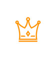 crown icon logo on white vector image vector image