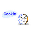 cute chip cookie cartoon comic character vector image vector image