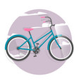 cycling concept bicycle bright vector image vector image