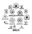 dandelion logo icons set simple style vector image