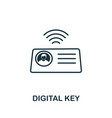 digital key outline icon creative design from vector image vector image