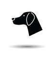 Dog head icon vector image vector image
