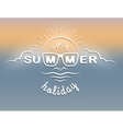 Emblem on the theme of summer vacation vector image