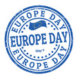 europe day sign or stamp vector image vector image