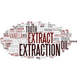 extraction word cloud concept vector image vector image