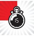 fifth teen minute stop watch countdown vector image vector image