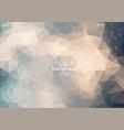 geometric minimal polygonal background molecule vector image vector image