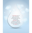 Glass Drop Frame on Abstract Background vector image vector image