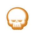 halloween cookie skull cookies for terrible vector image