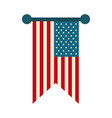 happy independence day pendant american flag vector image